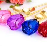 Valentine дня рождения благосклонности венчания кристаллический цветка Rose подарок красного голубого романтичного