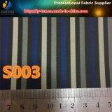 Tela de materia textil teñida hilado de la raya de la marina para la guarnición del juego de los hombres (S3.9)