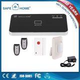 Sistema de alarma casero sin hilos de la seguridad del ladrón del G/M APP