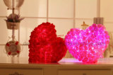 Brinquedos enchidos de incandescência do luxuoso do diodo emissor de luz Ramanas Rosa descanso afortunado luminoso colorido