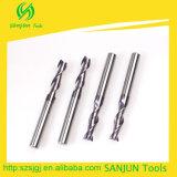 2 bit di Endmill del carburo della scanalatura/taglierina piana di macinazione di CNC della tibia lunga degli strumenti carburo di tungsteno