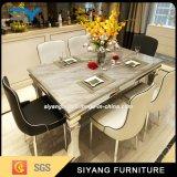 Tableaux dinants de marbre réglés d'acier inoxydable de Tableau de meubles à la maison