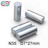 円形シリンダー亜鉛めっきの磁石