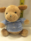 Blue Brown Peluche Peluche Peluche Lovey