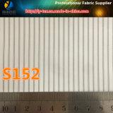 Tela barata de la raya del poliester para la guarnición del abrigo de pieles (S69.152)