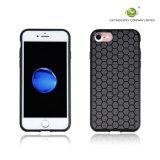 De C&T del silicón del teléfono de la caja del hexágono a prueba de choques ultra delgado de la caja del diseño contraportada reticular para el iPhone 7