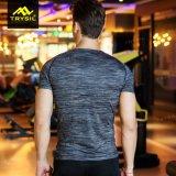 方法メンズタイツのスポーツシャツの体操のTシャツの実行中の摩耗