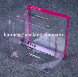 Caixa cosmética plástica do PVC da impressão de cor de Pantone com projeto de pacote Foldable (caixa cosmética)