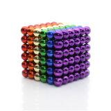 3mm coloridos 4mm 5mm 216 esferas magnéticas do Neodymium do fanfarrão da esfera do PCS