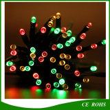 Zeichenkette 100 LED-beleuchtet die im Freien bunte Solarlampen-LED feenhafter Feiertags-Weihnachtssolargarten-wasserdichte Lichter