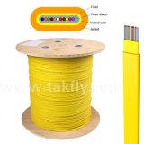Cable de cinta óptico plano de interior unimodal de fibra de Gjdfbv de 12 bases