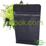 Kundenspezifischer Block-Unterseitematt-schwarzer Kunststoffgehäuse-Beutel
