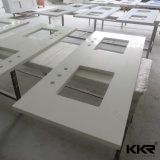 Custom Made Solid Surface Kitchen Countertop Mármore Vanity de banheiro
