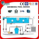 Tutta la strumentazione concreta della piscina dell'insieme degli accessori intera