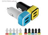 Lieferant fördernde Doppel-USB-Auto-Großhandelsaufladeeinheit für Mobiltelefon