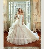 Alineada de boda desmontable nupcial sin tirantes del tren de los vestidos de bola G1784