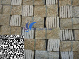 Revêtement jaune normal personnalisé de mur de granit de champignon de couche