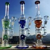 Conduite d'eau de fumage en gros en verre de Borosilicate de becher de tailles importantes