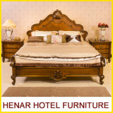 Rey de madera el Panel Bed de la ceniza americana agradable del diseño con madera talló