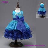 عالة - يجعل [فلوور جرل] جميلة زرقاء ثياب لأنّ عريقات بنات رسميّة عباءة أطلس جذّابة مغرورة تول مهرجان ثوب نابض إلى حدّ ما