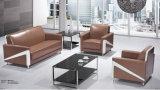 Echtes Leder-Büro Combiniation Sofa Wth Stahl-Bein