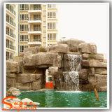 新しいデザイン庭の石の樹脂の人工的なRockery水噴水