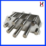 304/316 Filter van de Magneet van de Pijp van het Roestvrij staal Permanente voor de Behandeling van het Water