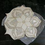 지면을%s 꽃 대리석 돌 Waterjet 모자이크 또는 큰 메달 패턴