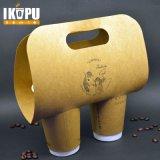 Taza de papel desechable caliente de café con tapas