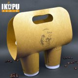 Heißer Wegwerfkaffee-Papiercup mit Kappen