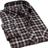 Camisa larga de la funda del botón del collar de la camisa de la manera del algodón al por mayor de los hombres