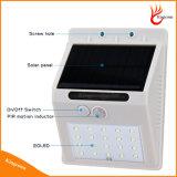 Bewegungs-Fühler-Solarlicht der LED-Solarlampen-PIR menschliches für im Freienpfad-Wand-Lampen-Sicherheits-Punkt-Beleuchtung