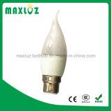 Lumière de bougie de RoHS F37 6W de la CE avec 2 ans de garantie 3000k
