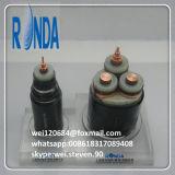 cabo de fio de cobre isolado XLPE subterrâneo da potência de 8.7KV 15KV