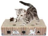 Rectángulo grande de la placa del retén de bola del orificio de la placa del rasguño de gato del juguete del gato