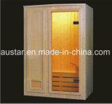 sauna de madeira do abeto vermelho do retângulo de 1200mm para a pessoa 2 (AT-8604)
