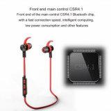 Auriculares sem fio do esporte de Bluetooth no ruído da orelha que cancela Earbuds