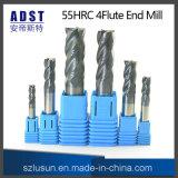 高品質55HRC 4fluteのタングステン鋼鉄端製造所のカッター