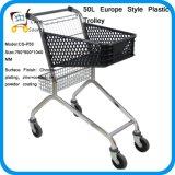 Carrinho de compra do carrinho do plástico do estilo de 50L Europa