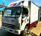 중국 Popualr FAW 터보 충전기를 가진 5 톤 화물 트럭