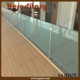 Trilhos internos da escada do aço inoxidável de sistema de trilhos da escadaria do vidro Tempered (SJ-S074)