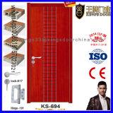 Puerta de madera del apartamento de la pintura de la chapa del mejor precio