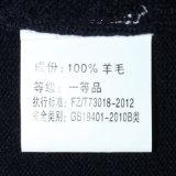 Пуловер способа шерстей v Bm16045 100% связанный шеей для людей