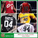 Qingyi Impression de transfert de chaleur en PVC pour vêtements de sport