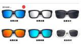 Rétro lunettes de soleil de lentille de miroir de mode en verre d'hommes