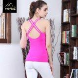 Traversa Backless sexy di ginnastica delle parti superiori di serbatoio di yoga delle maglie per le signore/donne