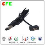 磁気USBの充満コネクター4pinの磁気ケーブルコネクタ