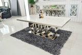 Mesa de jantar de mármore branco moderna para venda
