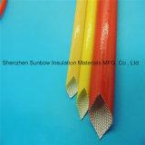 Chemise électrique d'isolation de fil de couleur de fibre de verre enduite ambre d'unité centrale