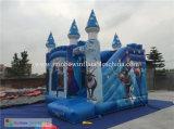 Regina gonfiabile combinata congelata gonfiabile del fumetto con il castello di salto della trasparenza